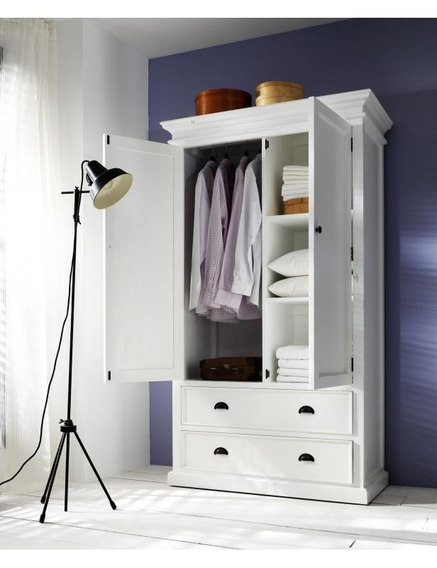 armoire penderie bois acajou blanc. Black Bedroom Furniture Sets. Home Design Ideas