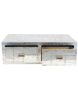 Table basse aluminium transat