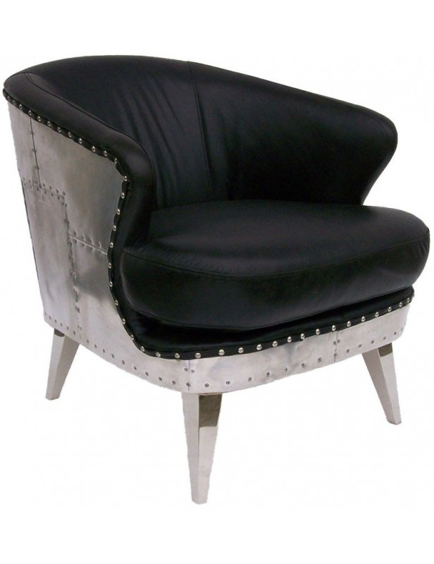 berg re meuble noir fauteuil industriel cuir alu. Black Bedroom Furniture Sets. Home Design Ideas