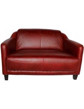 Canapé cuir confort rouge