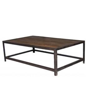 Table basse bois recyclé type industriel