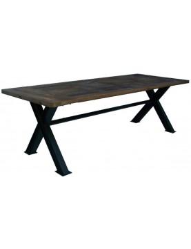 Grande table bois recyclé type industriel