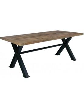 Table de repas bois recyclé type industriel