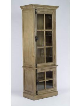 armoire vitrine bois recycl vitres sur 3 cot s. Black Bedroom Furniture Sets. Home Design Ideas