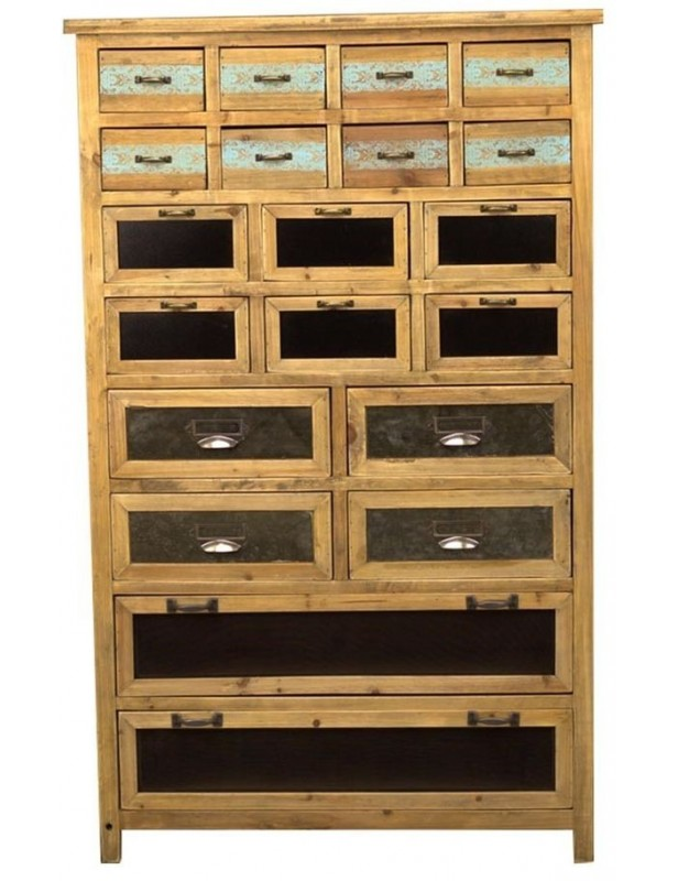 Confiturier 20 tiroirs nombreux rangement bois recyclé