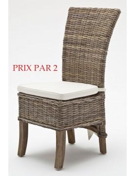 Chaises rotin vendu x 2 salle à manger