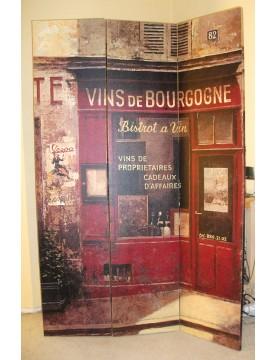Paravent boutique vins de Bourgogne