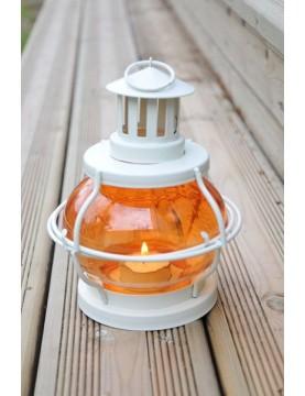Lanterne bougie volante orange