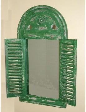 Miroir vieilli vert 2 volets
