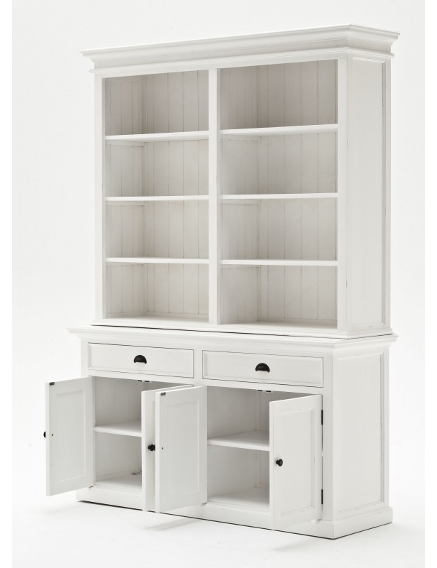 buffet vaisselier biblioth que acajou blanc. Black Bedroom Furniture Sets. Home Design Ideas