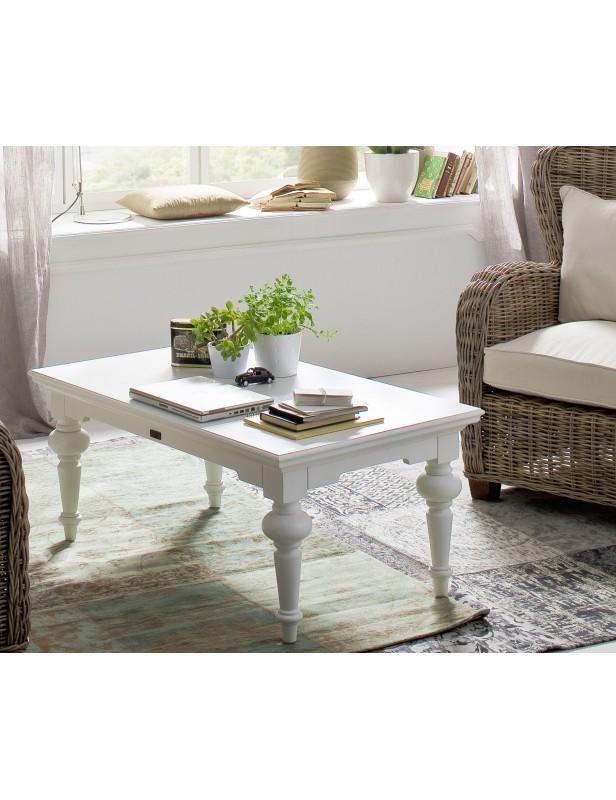 table basse rectangulaire acajou massif blanc. Black Bedroom Furniture Sets. Home Design Ideas