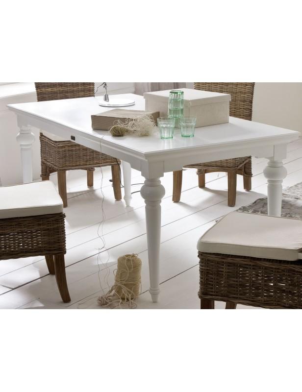 table de salle manger 180 cm acajou blanc
